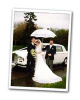 Wedding Cars Rain & Umbrella